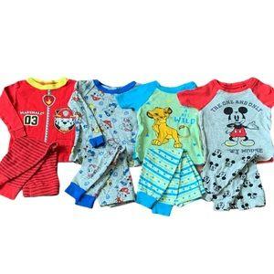 4 ~ 18m Baby Boy Character Pajamas Pant Sets